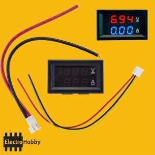 Amperimetro + Voltimetro 10A - 100Vdc