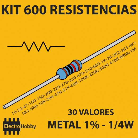 Kit 600 Resistencias