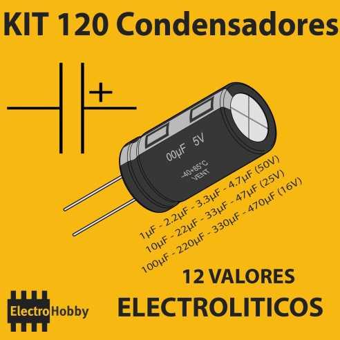 Kit 120 Condensadores Electroliticos