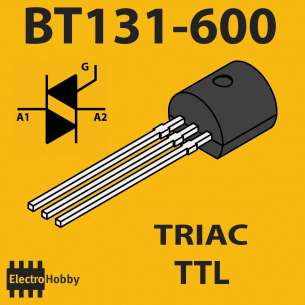 5x Triac TTL BT131-600