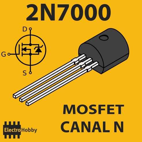 5x Mosfet N 2N7000