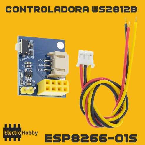 WS2812B Wifi con ESP8266-01S