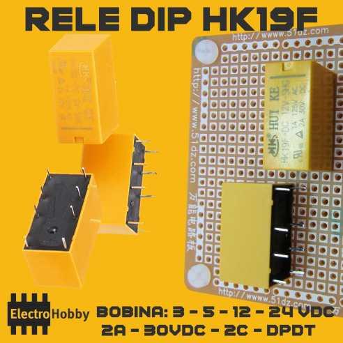 Rele DIP HK19F