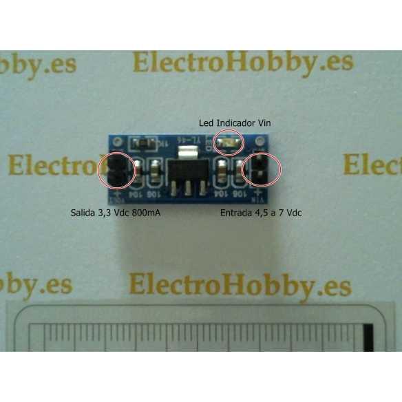 Convertidor 3,3V AMS1117