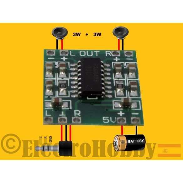Amplificador Estereo PAM8403