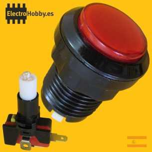 Boton Arcade Rojo 33mm