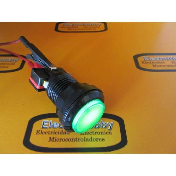 Boton Arcade Verde 33mm